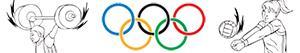 Ζωγραφική Ολυμπιακά αθλήματα. Πολυποίκιλος ζωγραφιές